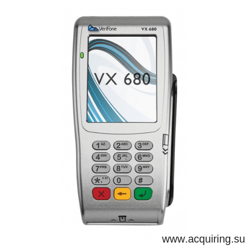 POS-терминал Verifone VX680 (Wi-Fi, Bluetooth), комплект Прими Карту в Екатеринбурге